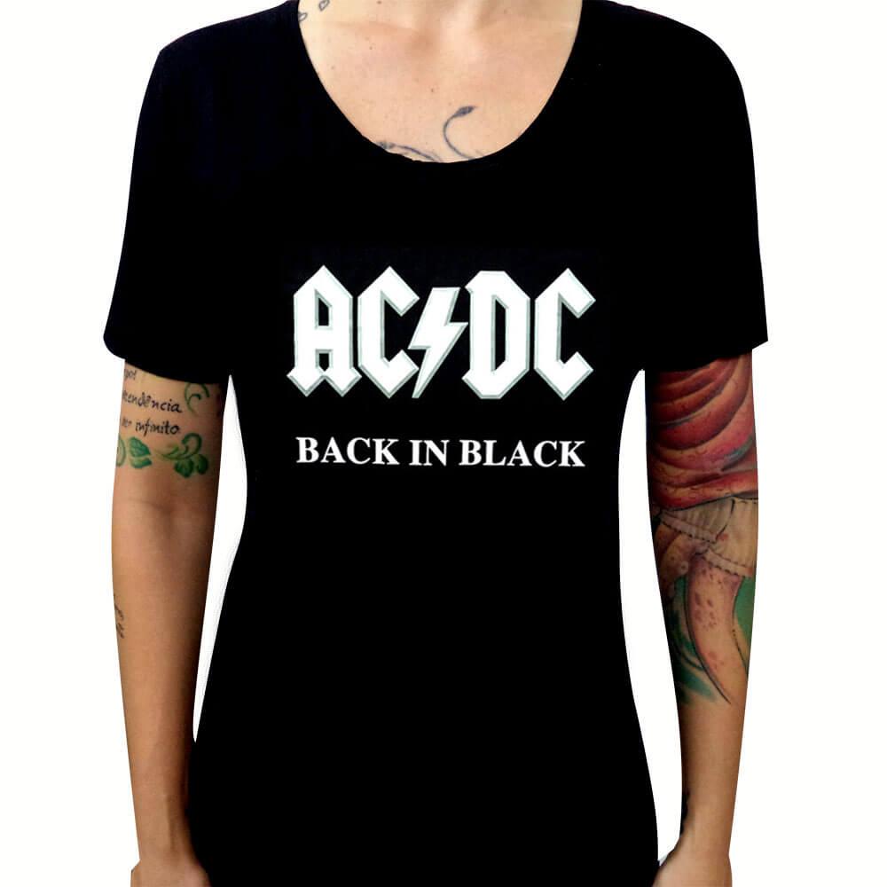Camiseta Feminina AC DC – Heavy Metal Rock d68dcb54a88f7