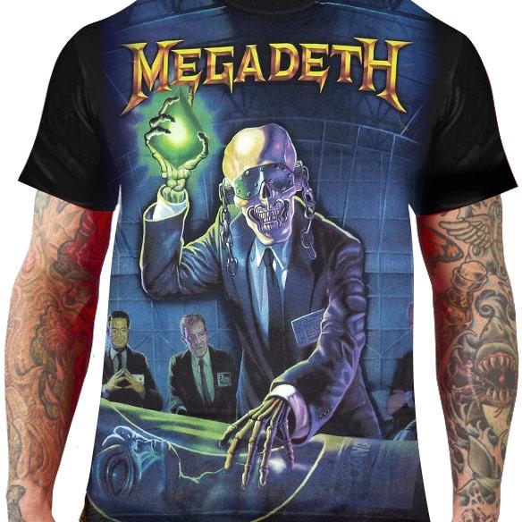 6281e2c3d18a5 Camiseta Megadeth – Heavy Metal Rock